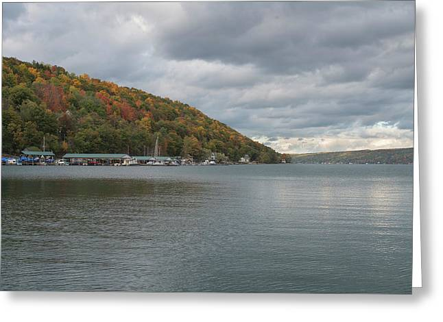 Greeting Card featuring the photograph Autumn In Hammondsport by Joshua House