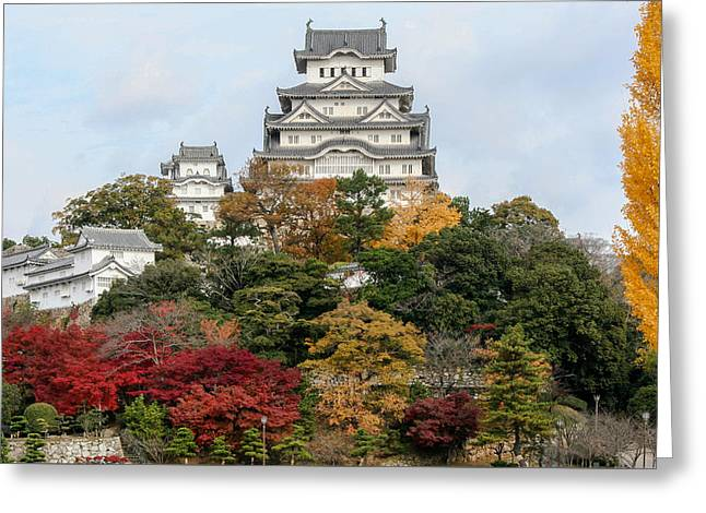 Autumn In Himeji Greeting Card by Peteris Vaivars