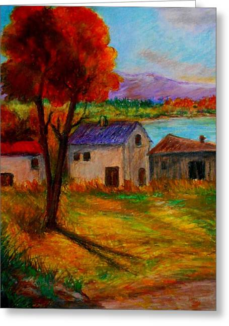 Autumn In Lake Prespa Greeting Card