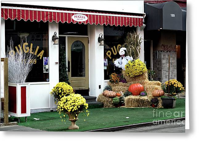 Greeting Card featuring the photograph Autumn In Little Italy by John Rizzuto