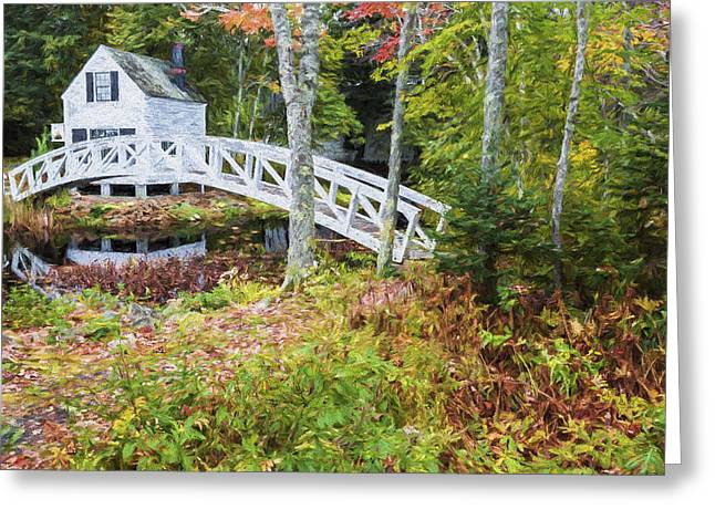 Autumn In Maine Greeting Card by Jon Glaser