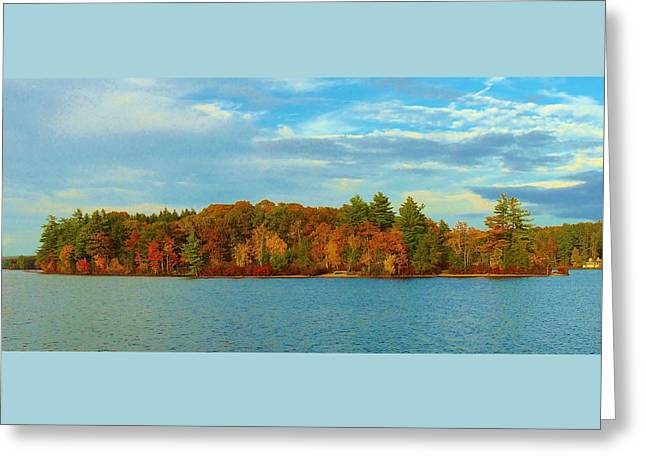 Autumn In Maine Greeting Card