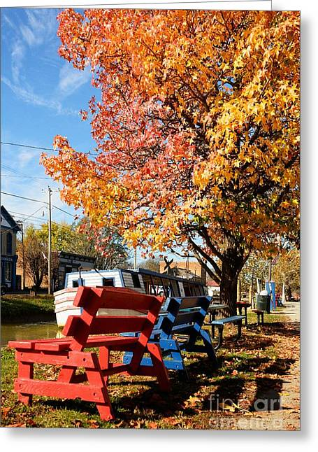 Autumn In Metamora Indiana Greeting Card by Mel Steinhauer