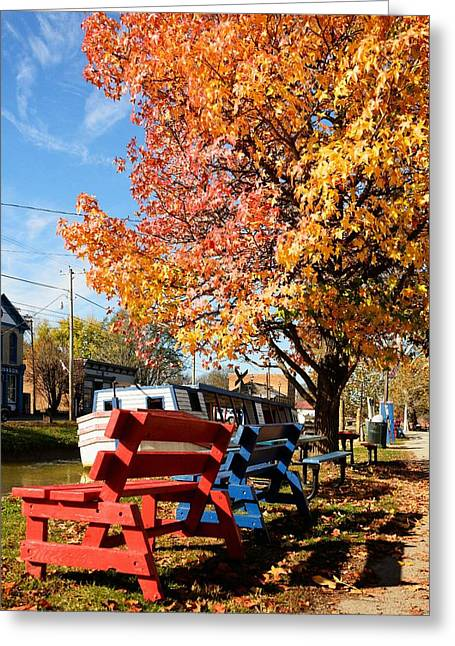 Autumn In Metamora Indiana Greeting Card by Tri State Art