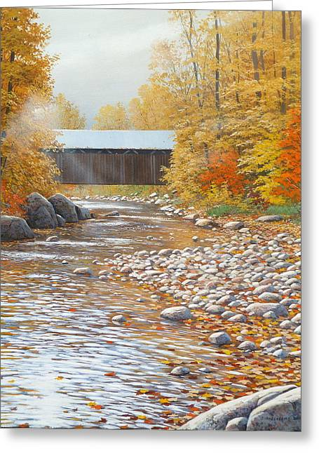 Autumn In New England Greeting Card by Jake Vandenbrink
