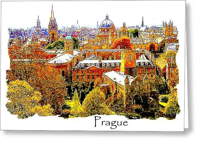 Autumn In Prague Greeting Card