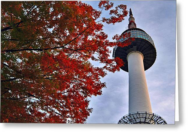 Autumn In Seoul Greeting Card