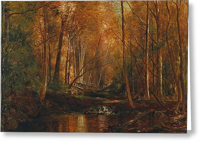 Autumn In The Catskills Greeting Card by Jervis McEntee