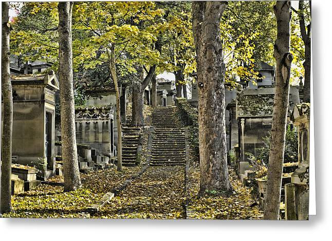 Autumn In The Cemeterie Pere Du La Chaise Greeting Card by Hugh Smith