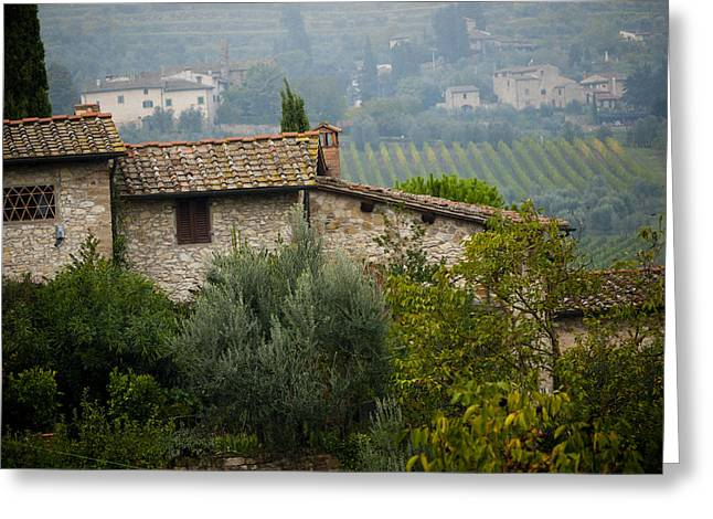 Autumn In The Chianti Region Greeting Card by Rae Tucker