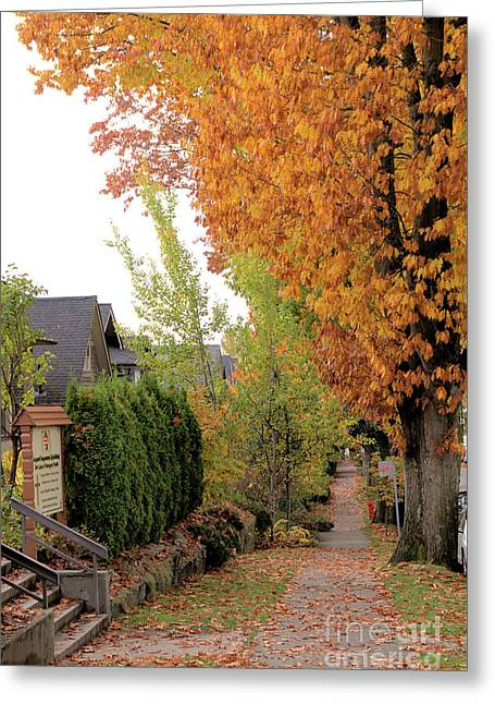 Autumn In The City Greeting Card