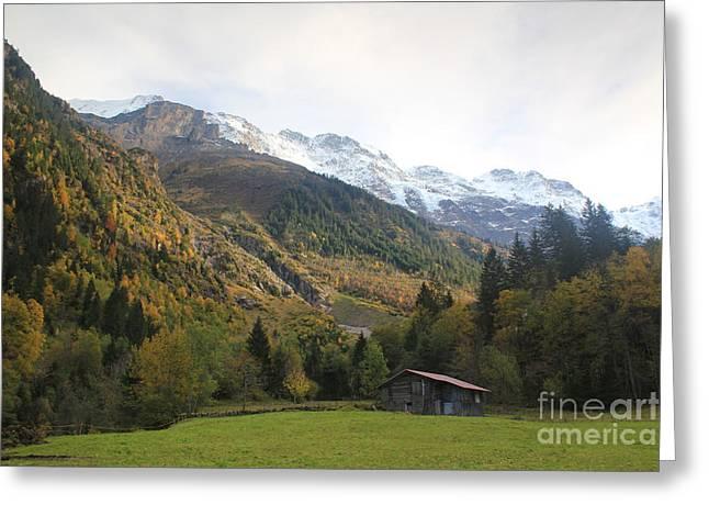Autumn In The Lauterbrunnen Valley, Switzerland Greeting Card