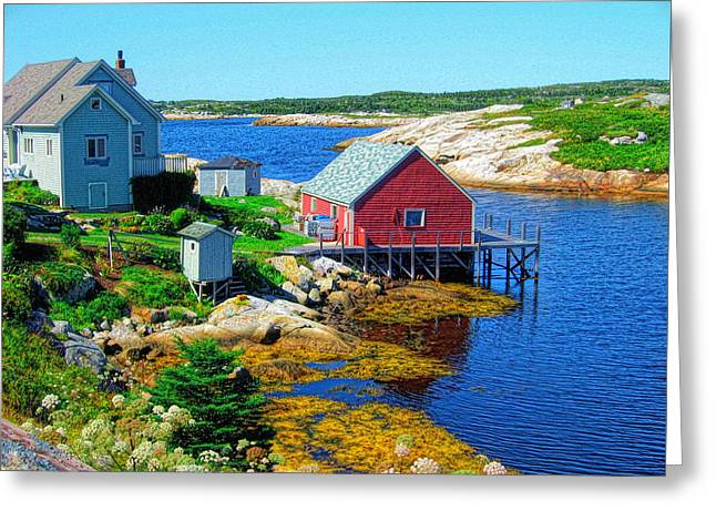 Autumn In The Maritimes Greeting Card