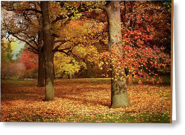 Autumn In The Orchard Greeting Card