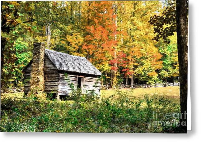 Autumn In The Smoky Mountains # 2 Greeting Card by Mel Steinhauer