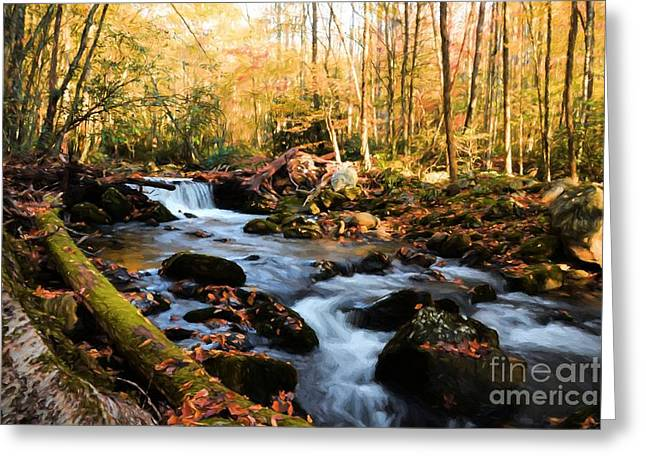 Autumn In The Smoky Mountains # 3 Greeting Card