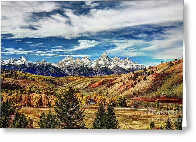 Autumn In The Tetons Greeting Card by Jean Hutchison