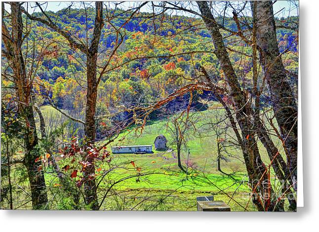 Autumn In The Valley  Greeting Card by Savannah Gibbs