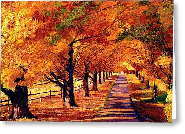 Autumn In Vermont Greeting Card by David Lloyd Glover