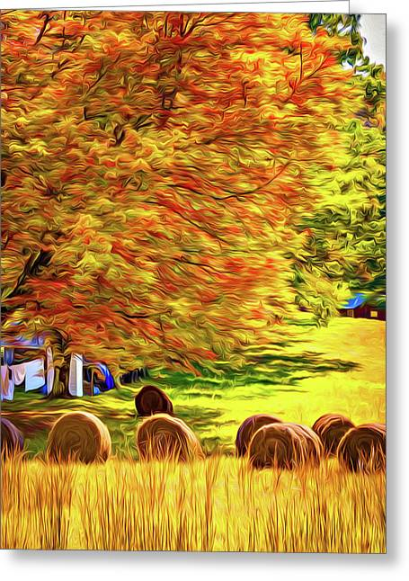 Autumn In West Virginia - Paint Greeting Card