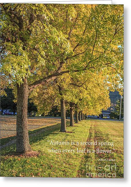 Autumn Is The Second Sprint Greeting Card by Edward Fielding