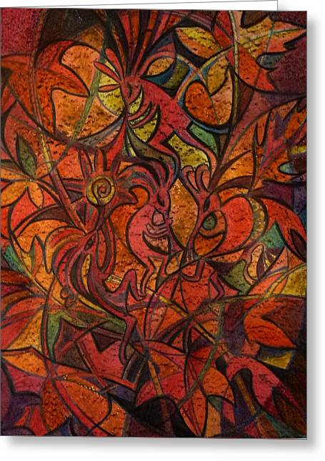 Autumn Kokopelli Greeting Card