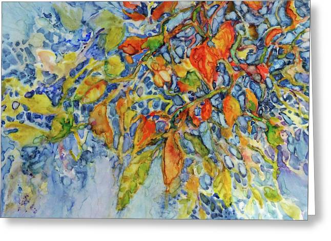 Greeting Card featuring the painting Autumn Lace by Joanne Smoley