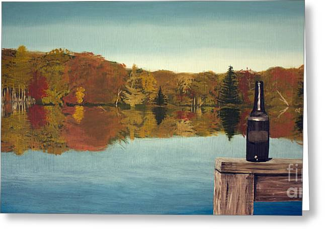Autumn Lake Greeting Card by Lee Alexander