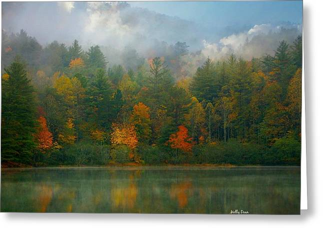 Autumn Lake Greeting Card by Molly Dean