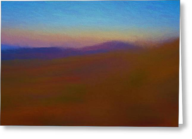 Autumn Landscape At Sunset Greeting Card by Dan Sproul