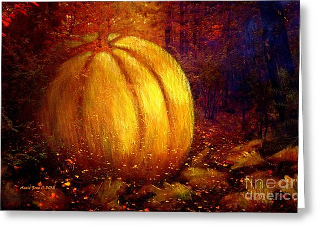 Autumn Landscape Painting Greeting Card