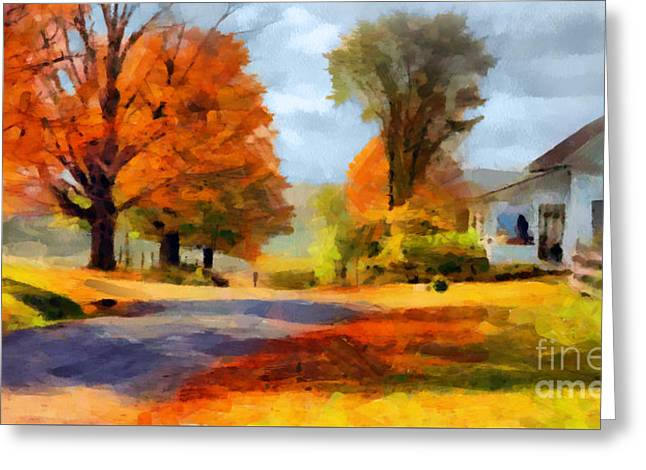 Autumn Landscape Greeting Card by Sergey Lukashin