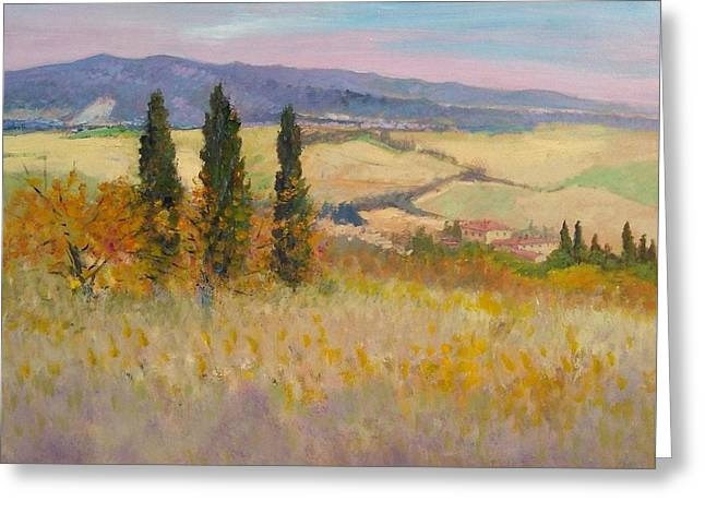 Autumn Landscape - Tuscany Greeting Card by Biagio Chiesi