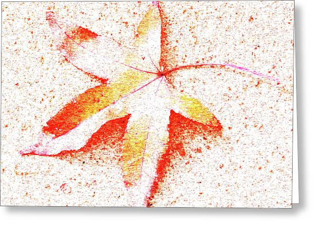 Autumn Leaf Art Greeting Card