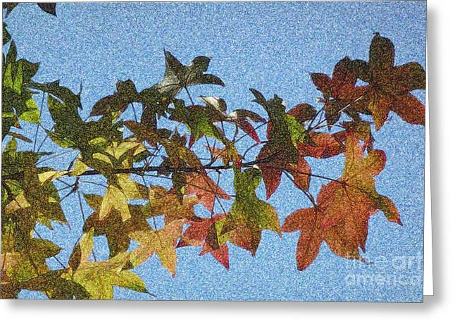 Greeting Card featuring the photograph Autumn Leaves 3 by Jean Bernard Roussilhe
