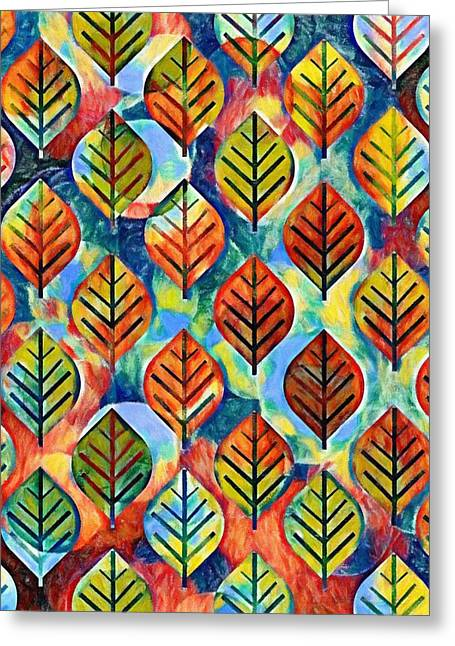 Autumn Leaves Abstract Greeting Card