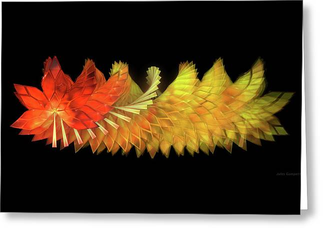 Autumn Leaves - Composition 2.2 Greeting Card