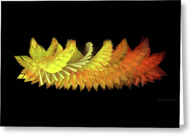 Autumn Leaves - Composition 2.3 Greeting Card