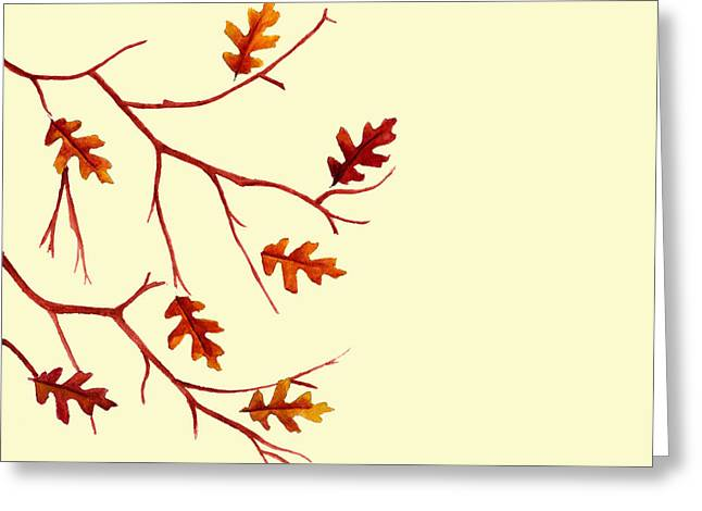 Dawnstarstudios Greeting Cards - Autumn leaves Greeting Card by Dawnstarstudios