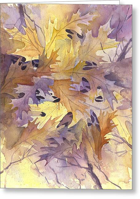 Autumn Leaves Greeting Card by Gladys Folkers