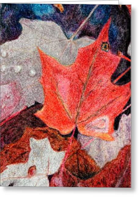 Autumn Leaves Greeting Card by Glenda Zuckerman