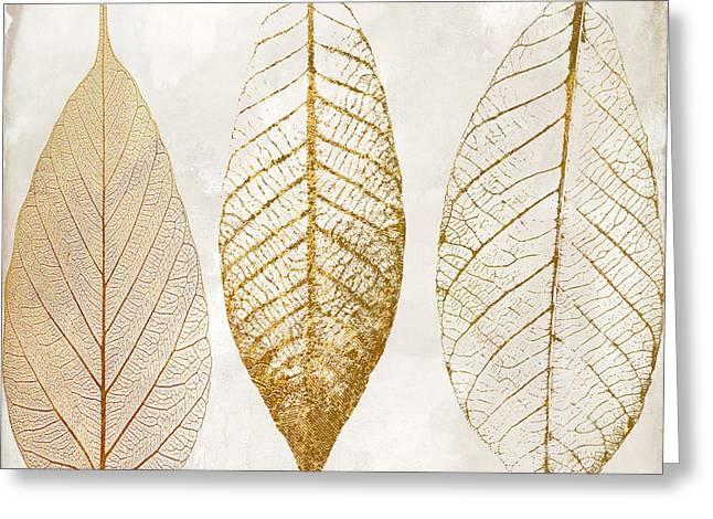 Autumn Leaves IIi Fallen Gold Greeting Card
