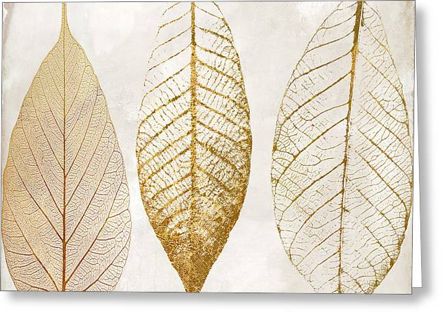 Autumn Leaves IIi Fallen Gold Greeting Card by Mindy Sommers