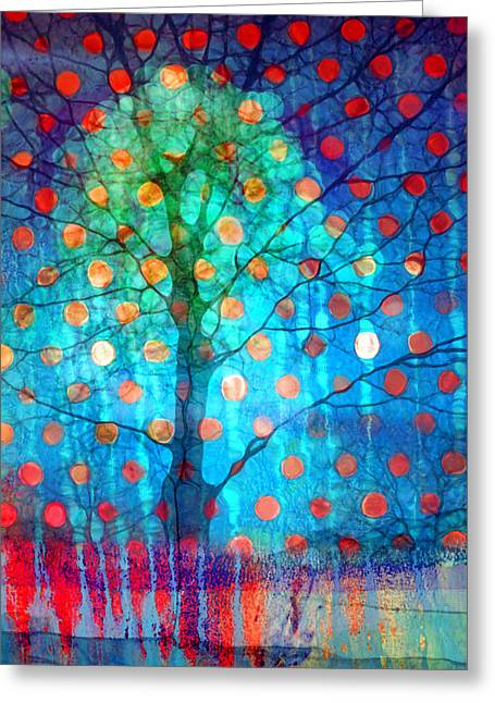 Autumn Leaves In The Windstorm Greeting Card