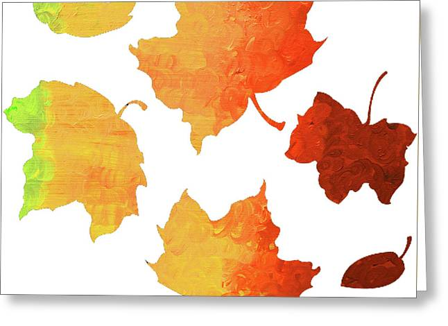 Autumn Leave's Greeting Card by Ken Figurski