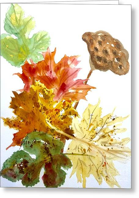 Autumn Leaves Still Life Greeting Card