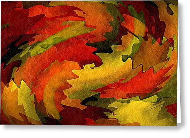 Autumn Leaves Greeting Card by Terry Mulligan