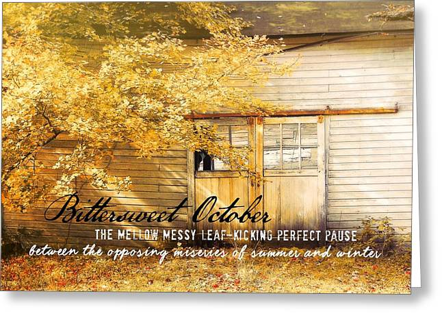 Autumn Light Quote Greeting Card by JAMART Photography