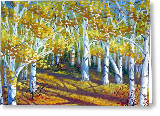 Autumn Light Greeting Card by Sharon Marcella Marston