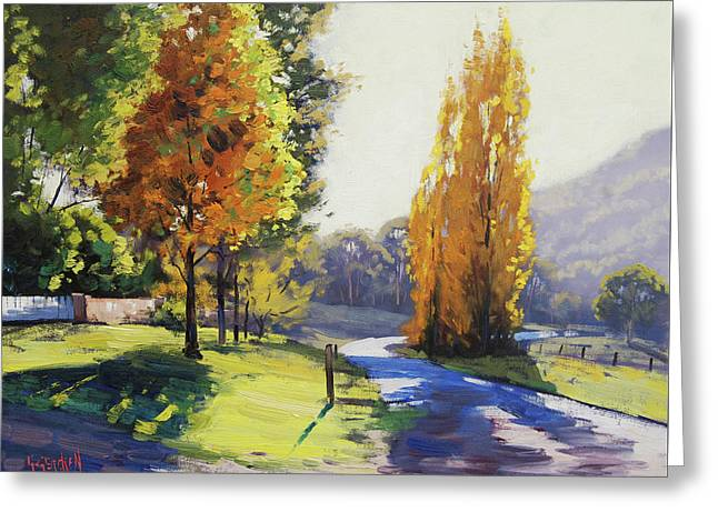Autumn Light Tarana Greeting Card